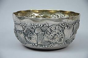 Whiting Sterling Silver Shell Bowl Circa 1884
