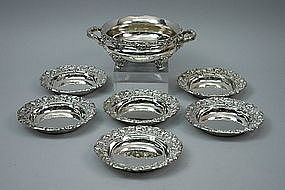 American Sterling Turtle Soup Tureen And Bowls Gorham