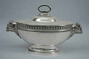 Magnificent Tiffany Silver Tureen Figural Oxen C.1855