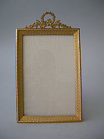 French Bronze Dore Gilded Picture Frame C 1910