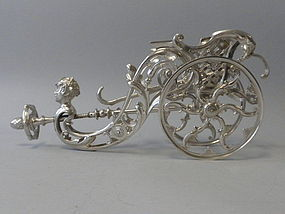 Austrian Silverplated Wine Caddy by Berndorf C 1880