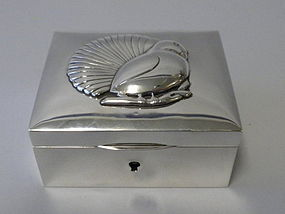 Sterling Silver Box Figural Bird Circa. 1910
