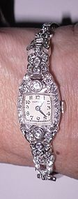 Platinum and Diamond Hamilton Wristwatch