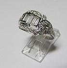 Wonderful Platinum and Diamond Ring