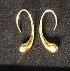"Tiffany 18Kt Gold ""tear drop"" Earrings by Elsa Peretti"