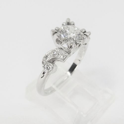 1920's Platinum and Diamond Engagement Ring