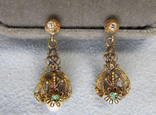 The Met Store - Etruscan Spun-Wire Earrings