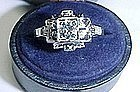 Art Deco 14Kt White Gold and Diamond Ring