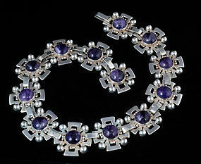 FRED DAVIS design MEXICAN SILVER AMETHYST NECKLACE