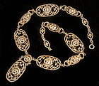 Vintage PERUZZI style ITALIAN SILVER MASKS NECKLACE