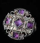 MATL Matilde POULAT MEXICAN SILVER and AMETHYST RING