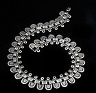 DECO MEXICAN SILVER NECKLACE Aguilar Half-link design