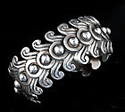 EARLY LOS CASTILLO MEXICAN SILVER CUFF BRACELET