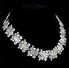 DRAMATIC GERARDO LOPEZ MEXICAN SILVER NECKLACE