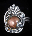 MARGOT de TAXCO MEXICAN SILVER COPPER REPOUSSE RING