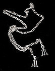 Rare MIGUEL MARTINEZ MEXICAN SILVER LARIAT NECKLACE