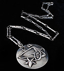 MARGOT de TAXCO MEXICAN SILVER LIBRA PENDANT NECKLACE