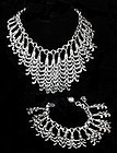 STUNNING MARGOT de TAXCO MEXICAN SILVER BIB NECKLACE