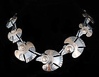 Vintage PERUVIAN SILVER GOLD BIRD NECKLACE Laffi dsgn