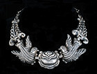 EARLY M. POULAT MATL MEXICAN SILVER NECKLACE