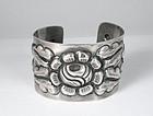 A. TOBIAS Mexican silver repousse Cuff Bracelet