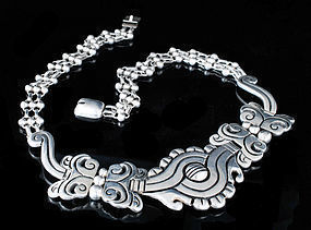 Hector Aguilar 990 Mexican silver Maguey Necklace
