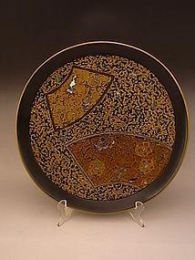 Japanese Mid 20th Century WAKASA ware lacquer tray