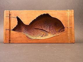 Japanese E. - Mid 20th C. Sea Bream Design Kashigata