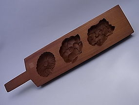 Japanese 20th Century Sweet Cake Mold or Kashigata