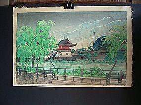 Japanese 20th Century HASUI KAWASE woodblock print