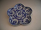Japanese 19th Century Blue and White Plum Shaped Plate