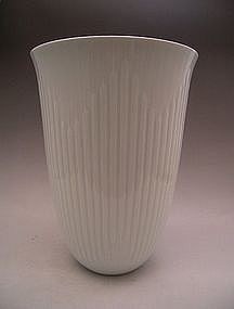 Japanese Large White Celadon Vase by Nakano Taku
