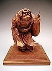 Japanese 20th Century Wooden Okimono of Sennin Hermit