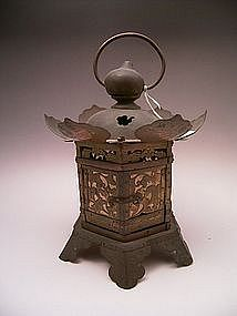 Japanese Early 20th Century Bronze Lantern