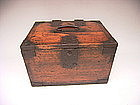 Japanese Meiji Period Small Wooden Calligraphy Box