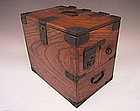 Japanese Meiji Period Wooden Calligraphy Box