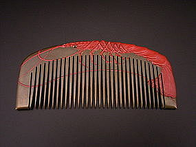 Japanese Taisho - Early Showa Period Lobster Comb