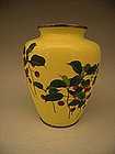 Japanese Early 20th Century Ando Cloisonne Nanten Vase