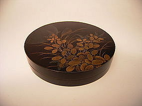 Japanese Circa 1900 Lacquer Kogo Incense Box