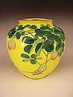 Japanese Early 20th Century Ando Cloisonne Akebi Vase