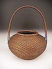 Japanese E. 20th Century Bamboo Flower Basket
