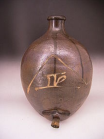 Japanese Early 20th Century Ceramic Sake Bottle