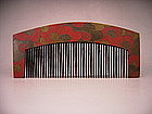 Japanese Edo Period Plum Design Comb