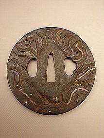 Japanese Mid Edo Period Shoami Style Tsuba