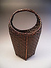 Japanese Early 20th C. Bamboo Flower Basket