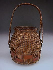Japanese E. 20th C. Bamboo Basket