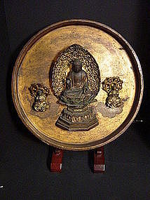 Japanese Late Edo Period Circular Hanging Buddha