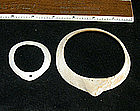 Hohokam Frog Head Shell Bracelet with extra shell brace
