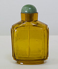 Chinese Amber Glass Snuff Bottle, 19th Century.