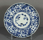 Japanese Arita Blue & White Dish, late 18th C.